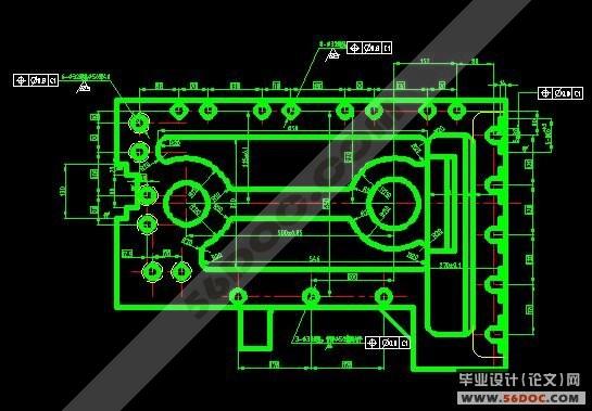 采煤機左牽引部機殼的加工工藝規程及數控編程 3張a0圖紙